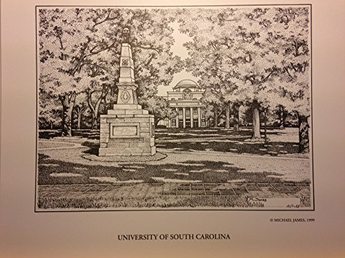 University of South Carolina - Horseshoe 8''x10'' pen and ink print by Campus Scenes
