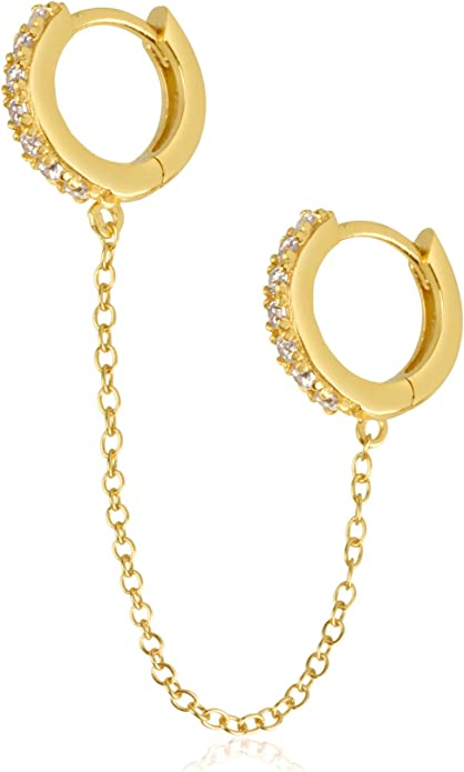 Small Dangle Earring Dangle Earring Charm- 13x22mm Gold Elephant Earring 2 pcs 18kt Gold Filled-Huggie Earring CZ Pave Earring