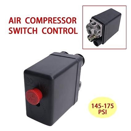 145 – 175 Psi Interruptor de presión aire compresor Válvula Reguladora Bomba Max 240 V 20