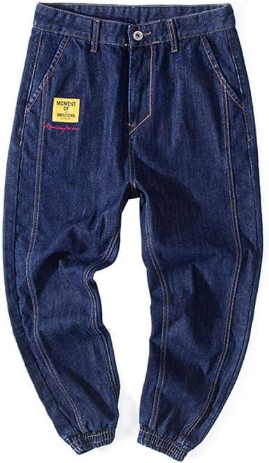 Loeay Hombres Summer Jeans Casual Skate Board Stright Fashion Jean Tallas Grandes S 8xl Breathable Tearing Denim Hombre Algodon Amazon Es Ropa Y Accesorios