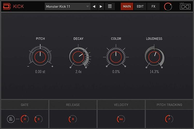 UVI Drum Designer:KICK画面