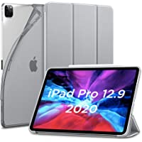 "ESR for iPad Pro 12.9"" Case 2020, Rebound Slim Smart Case with Auto Sleep/Wake [Viewing/Typing Stand Mode] [Flexible TPU Back with Rubberized Cover],Silver Grey"