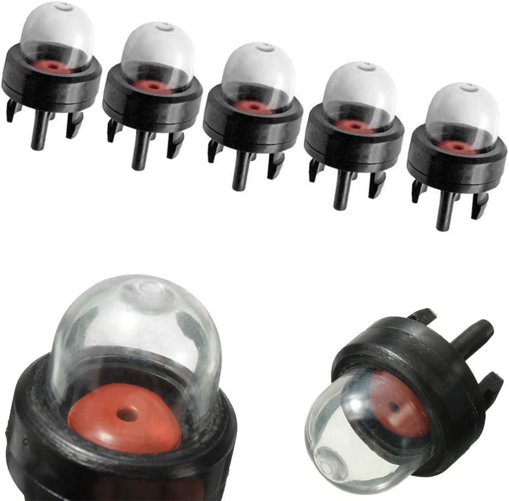 Spary 5Pcs D/ébroussailleuse Essence Appr/êt Carburant Ampoule Pompe pour Tron/çonneuses Gonfleur Coupe-Bordures