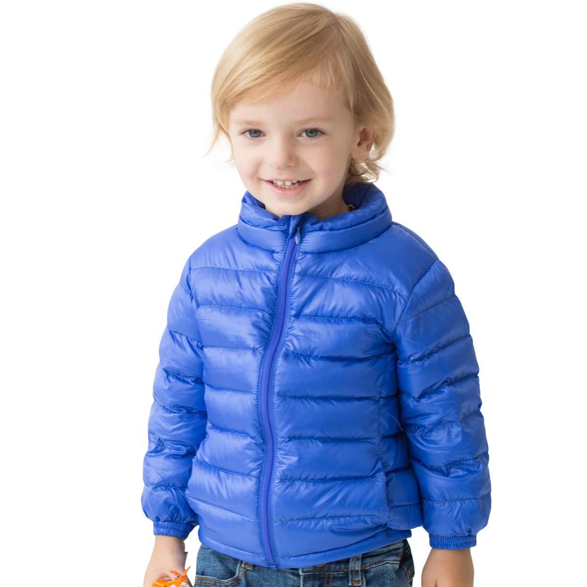 marc janie Little Girls Boys' Outerwear Ultra Light Weight Down Jacket 18 Months (73 cm) Jewelry Blue