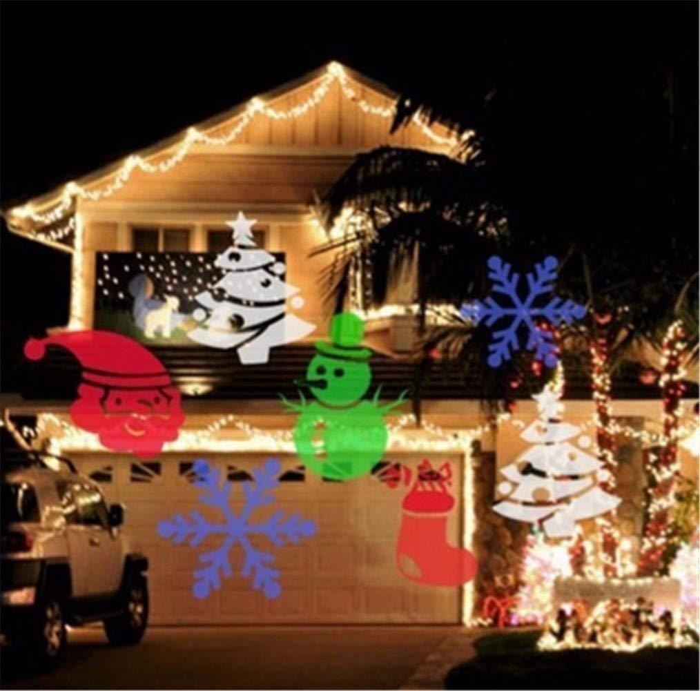 Eeayyygch Weihnachten Projektor Drehbare Licht Scheinwerfer Lampe ...