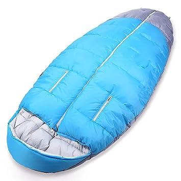 WEDEHANGE Saco De Dormir,fácil De Llevar Y Limpiar,sábana con Cierre,Funda De Viaje,para Viaje Y Camping De Verano(Color Azul),Blue(1.6kg): Amazon.es: ...