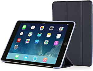 RUBAN Case Compatible with iPad Pro 9.7 Inch 2016 - Slim Lightweight Protective Smart Shell Anti-Scratch Non-Slip Flexible Soft TPU Back Cover Stand [Auto Sleep/Wake], Navy Blue