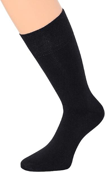 kb-Socken 10 pares Calcetines para mujer sin goma negro y blanco 100% algodón o 6 pares Calcetines para mujer Ordenador 80% algodón con Piquet borde, Comfort cintura y gekettelte Punta: Amazon.es: Ropa