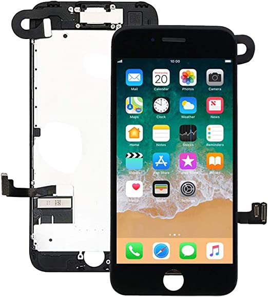 Screen Protector for iPhone 7 Plus Screen Replacement Kit Black 5.5 LCD Display Nroech iPhone 7 Plus Replacement Touch Screen Digitizer Full Assembly with Front Camera Earpiece Repair Tools Kit