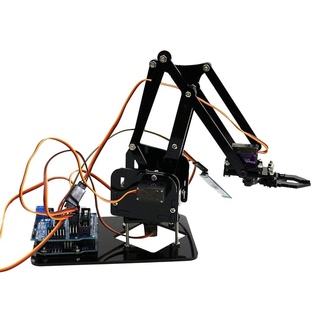 MagiDeal 4DOF BT Control Assembling Robot Arm Mechanical Robot Clamp Claw Gripper DIY Arduino Mounted Assembly non-brand