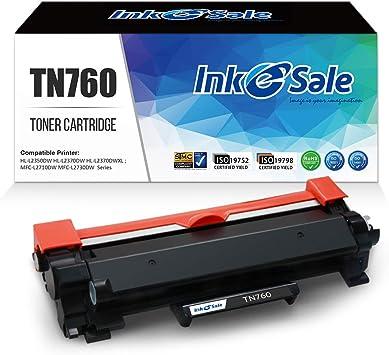 Black 1-Pack Compatible High Capacity DCP-L2550DW HL-L2350DW HL-L2370DW HL-L2370DWXL Printer Toner Cartridge Replacement for Brother TN760 TN-760 Printer Cartridge