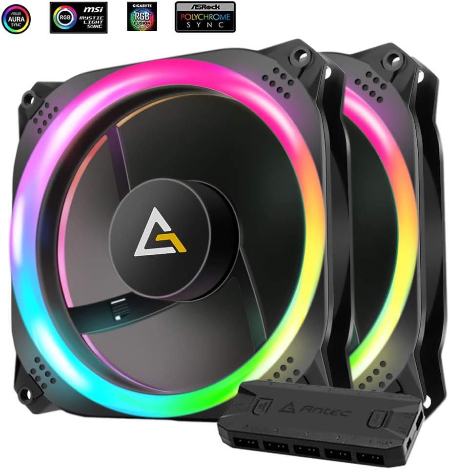 Antec 0-761345-77513-7 Prizm Fan with Fan Controller - Black