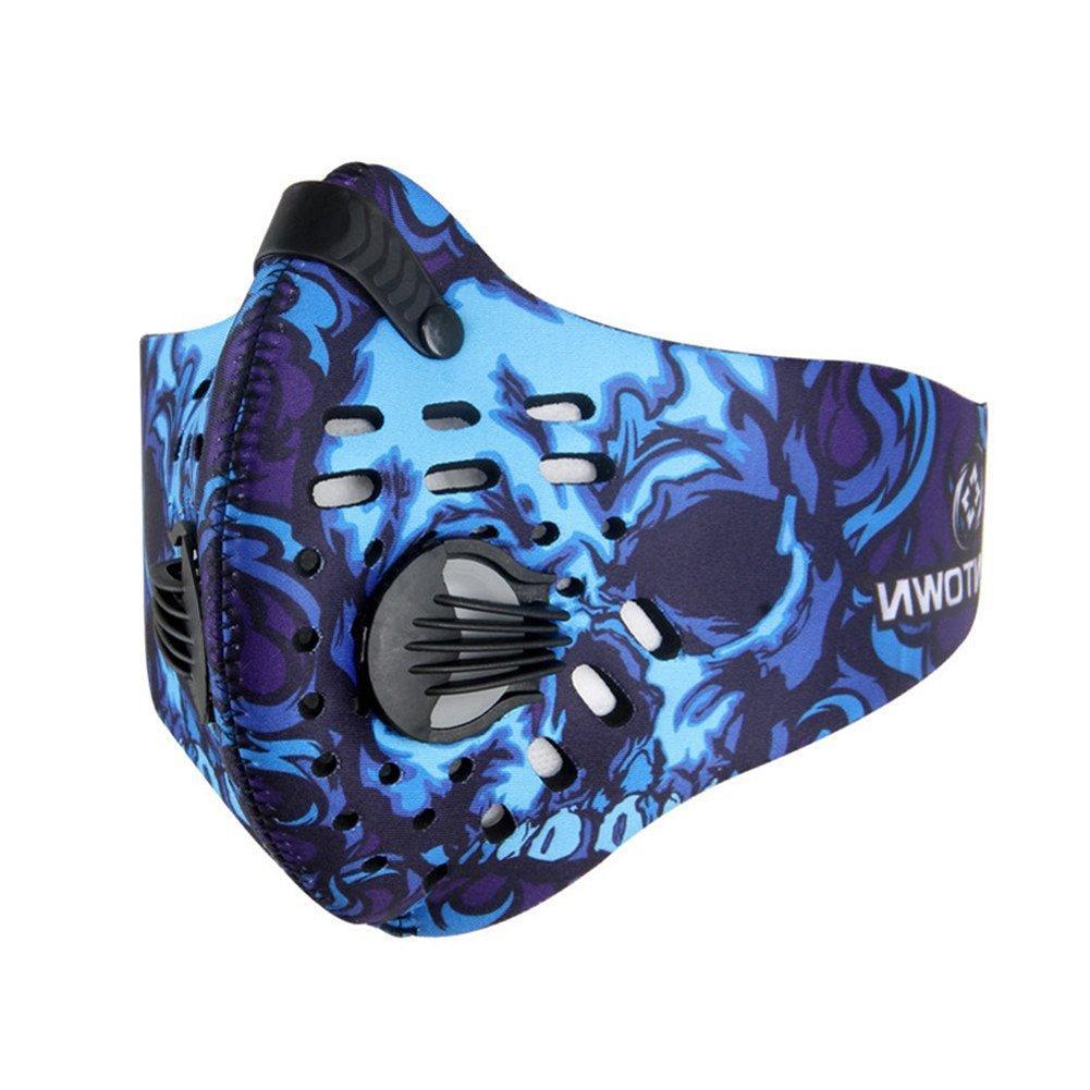 ECHERY anti pollen allergie à la poussière masque équitation demi-masque visage filtre pour la course Cyclisme Sports & cosplay
