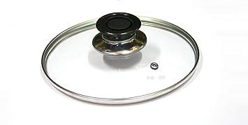 Takestop® Tapa Cristal templado diámetro 14 cm para sartén olla cacerola sartén sobre Gas placa lavavajilla