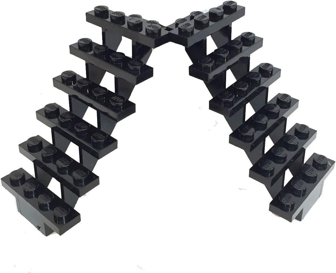 Lego Stairs, 7x4x6, Black, Set of 2
