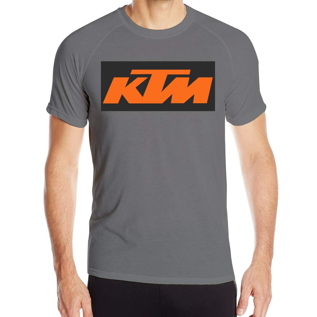 BOSIJCAI Personalized Quick Drying КТМ Logo Breathable T Shirt for Men O-Neck Black