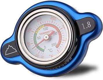 High Pressure Radiator Cap with Temperature Gauge 1.8 Bar for Kawasaki KX250 198