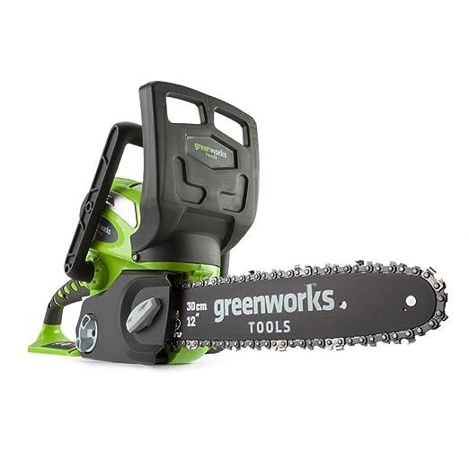 4 opinioni per Greenworks 20117UA Motosega a batteria 30cm 40V al Litio con batteria 2Ah e