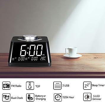 JIAHANLI Réveil numérique Chambre Intelligente réveil