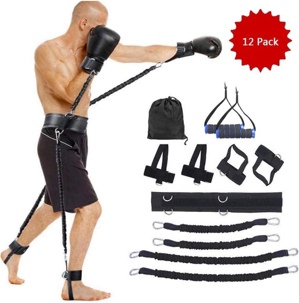 LUCKFY Bandas de Boxeo Set - Velocidad y Resistencia Agilidad Bandas Trainer - Kick para la Terapia física y el Baloncesto Boxeo Formación apilable, 12 Paquete: Amazon.es: Deportes y aire libre