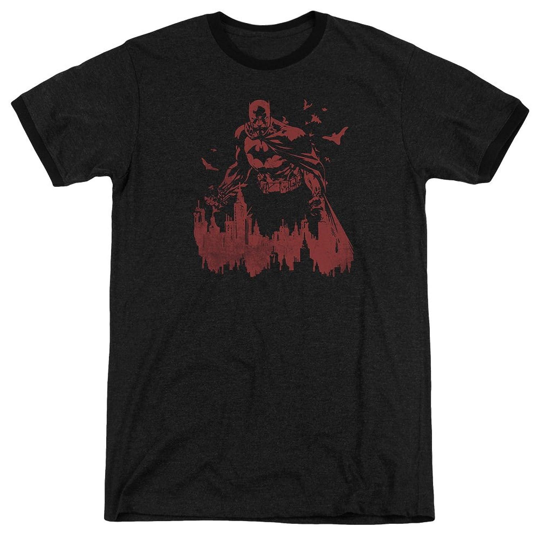 Batman Men's Red Knight Ringer T-Shirt