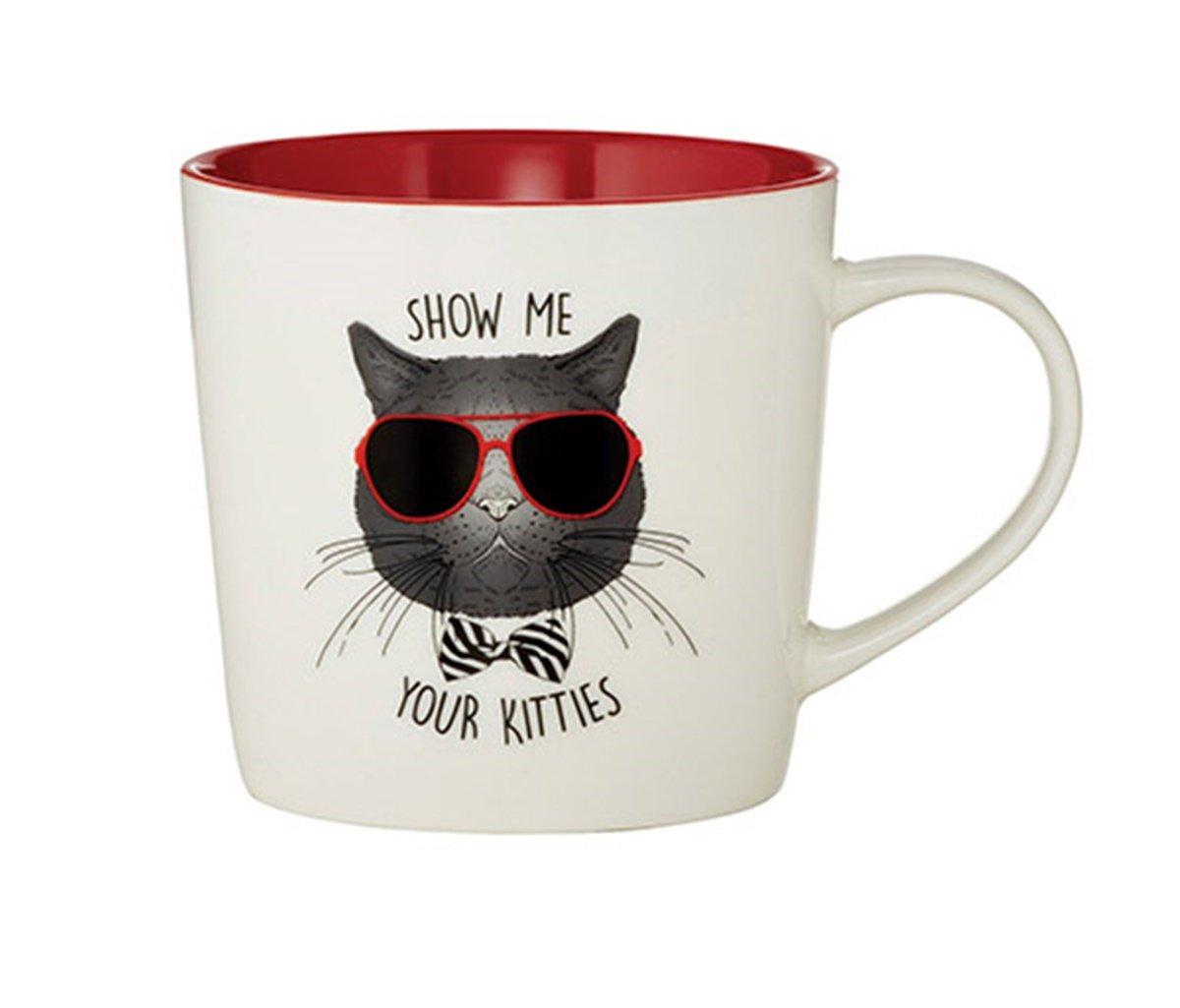 Funny Coffee Mug- Show Me Your Kitties,14oz