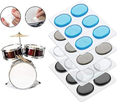 24Pcs Tambor de Amortiguación Almohadillas de gel para tambor Almohadillas de amortiguador de Tambor de Gel de Control de Tambor Mudo Silenciador de Tambor Silenciador para Caja de Tambor: Amazon.es: Instrumentos musicales