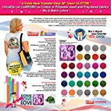 GERCUTTER Store - 6 Yards Siser GLITTER Heat Transfer Vinyl 20'' - CricutDie cut CraftROBO on Cotton or Polyester mesh and Poly-blend fabrics (Mix & Match colors)