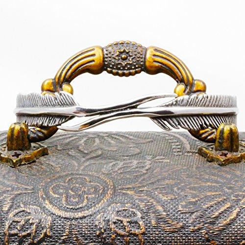 Lune ailes Vintage Bracelet jonc en acier inoxydable double-feather