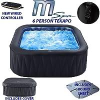 Abreo MSPA D-TE06 Tekapo 6 Person Portable Square Inflatable Hot Tub Bubble Spa Inflatable Jacuzzi (Latest 2019 Model)
