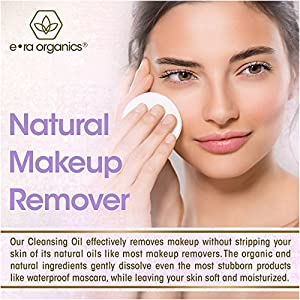 Cleansing Oil And Makeup Remover (5oz) Premium Natural & Organic Moisturizing Facial Cleanser For Dry, Sensitive Skin With Organic Argan Oil, Apricot Oil, Jojoba Oil, Rosemary Extract