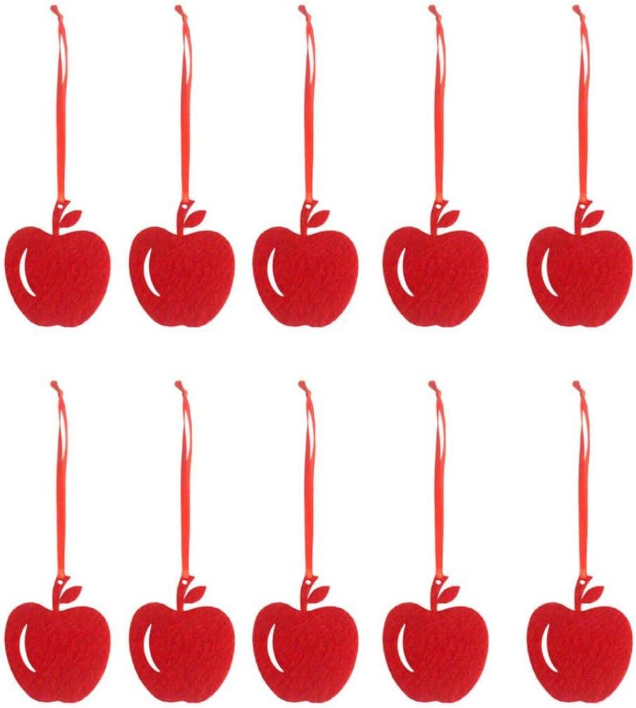 vwlvrsco 10Pcs Christmas Apple Ornaments Festival Party Tree Hanging Pendant Decoration - Red