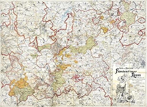 Historische Karte Vogtland Oberland Der Furstentumer Reuss 1901