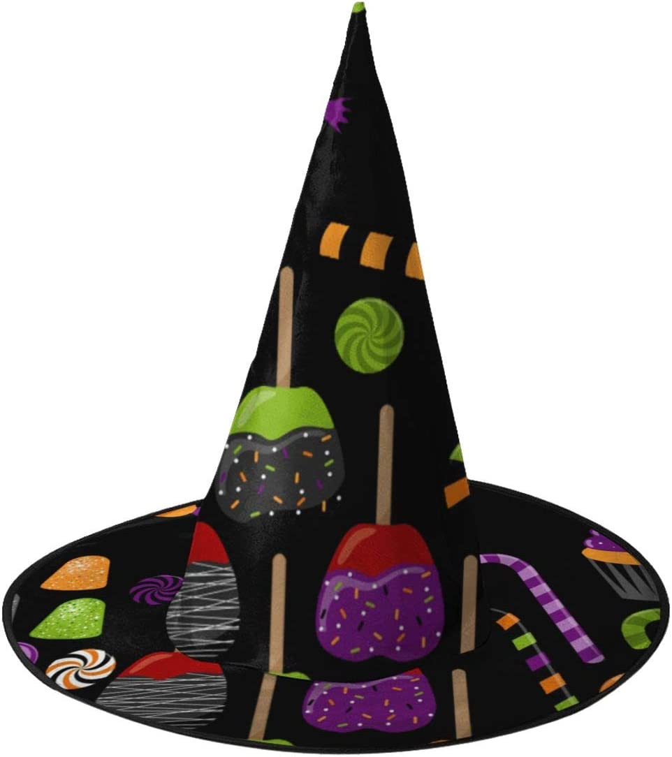 Amazon Com Sktn1 Halloween Candy Clipart Cosplay Decoration Toys Halloween Witch Hats Costumes For Kids C Varied Designs Sports Outdoors