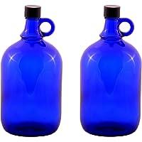 2 x 2 litros glasballonflasche EN AZUL Galón