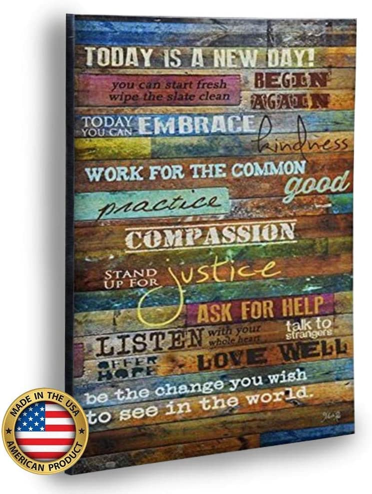 Marla Charlotte Mall Rae Inspirational Quotes Wall Art cheap - is Today a Day 12 New
