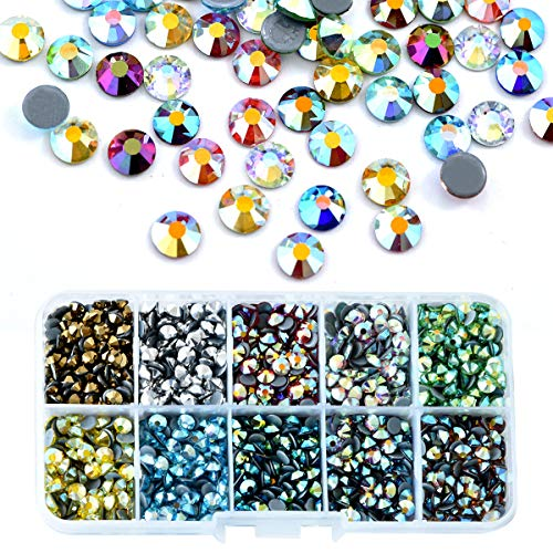 BLINGINBOX SS10 5000pcs Mix Colors AB with Box 10 Colors Hot Fix Rhinestones Crystal Glass Strss Hotfix Rhinestones for Garment