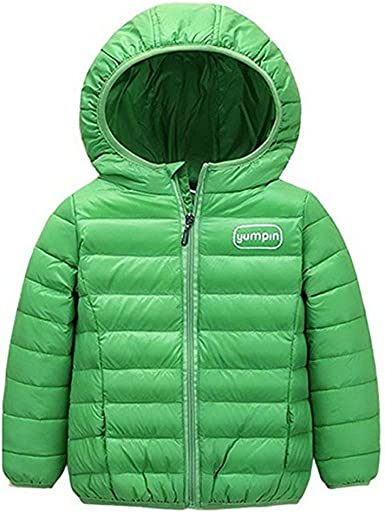 JELEUON Toddler Baby Boys Girls Puffer Cotton-Padded Coat Jacket Kids Clothes