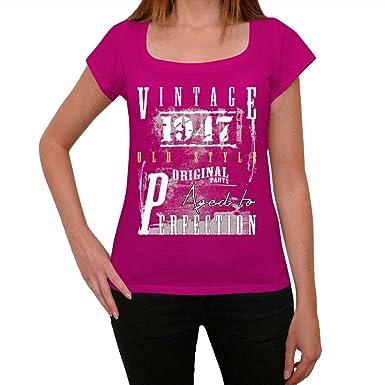 1947, camiseta rosa mujer, camiseta rosa, regalos para ...