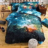THEE Galaxy Quilt Cover Duvet Cover Outer Space Bedding Set(double)