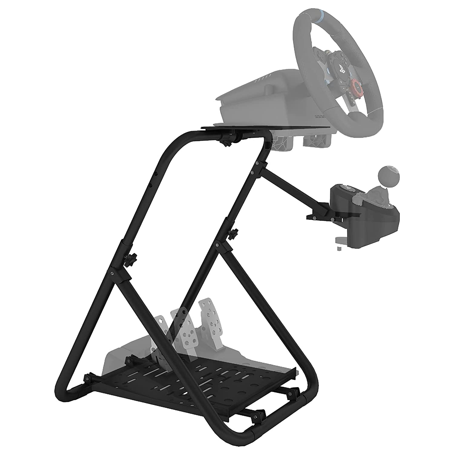 DIWANGUS Racing Steering Wheel Stand Collapsible Tilt-Adjustable Racing Stand for Thrustmaster,Logitech G25 G27 G29 G920 Supporting TX Xbox PS5 PC (Wheel&Pedals Not Included)