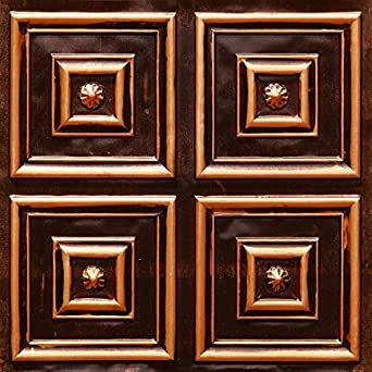affordable ceiling tile 112 antique copper modern 2x2 glue up fire rated - Copper Ceiling Tiles