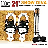 New MTN Man Woman Kid Youth 21'' Gold Snowshoes + Nordic Pole +Free Bag