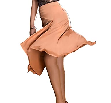 af959a42a3b5 Rumba Skirt Split Half Skirt Latin Dance Skirt Cha Cha Skirts Tango Dress  at Amazon Women's Clothing store: