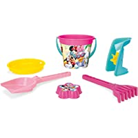 Wader 77437 emmerset Disney Minnie Mouse met emmer, zeef, zandmolen, schep, harken en zandvorm 6-delig multicolor