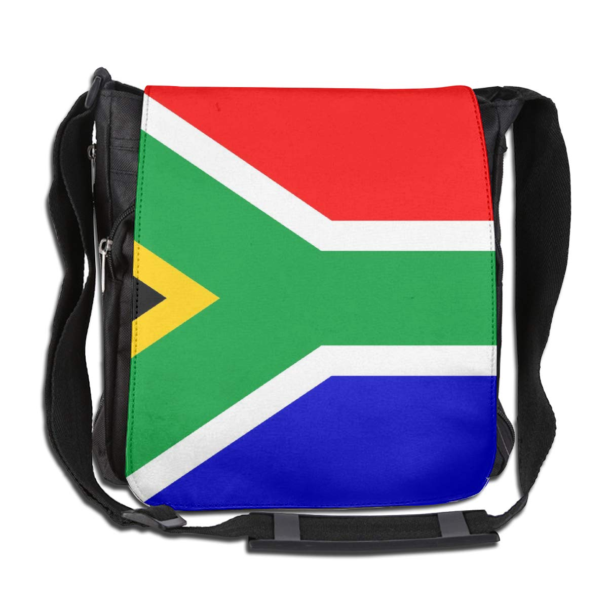 South Africa Flag Crossbody Shoulder Bag Durable Casual Daily Messenger Bag Satchel School Bag For Women And Men
