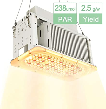 Aceple Full Spectrum Sunlike White Led Grow Light 600w Equal Waterproof Plant Growing Lamp 2x2ft Coverage Plant Light For Gardening Grow Tent