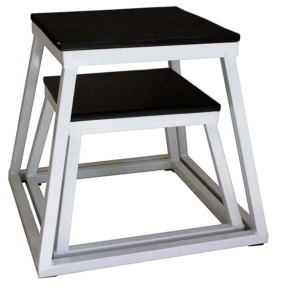 Ader Plyometric Platform Box Set- 6'', 12'' White