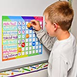 color behavior chart - Oversize Calendar Behavior Chart For Kids - Magnetic Chore Charts For Kids - Dry Erase Chore Chart Includes Achievement Incentive Magnets - Reward Chart For Toddlers