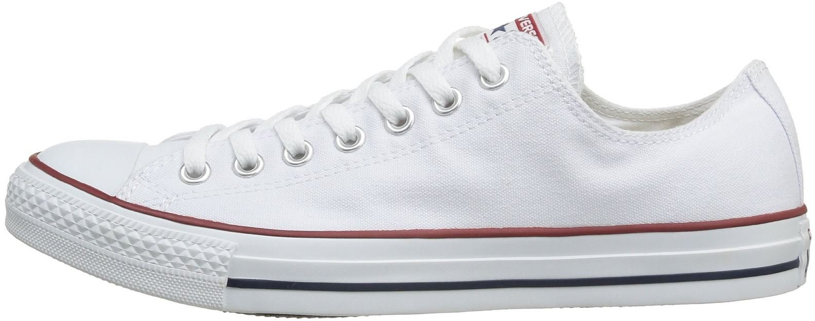 Converse Unisex Chuck Taylor All Star Low Top Optical White Sneakers - 10.5 D(M)